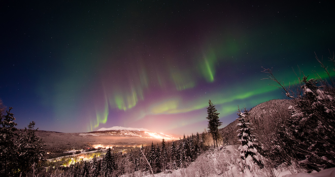 Nordlys over Trysil