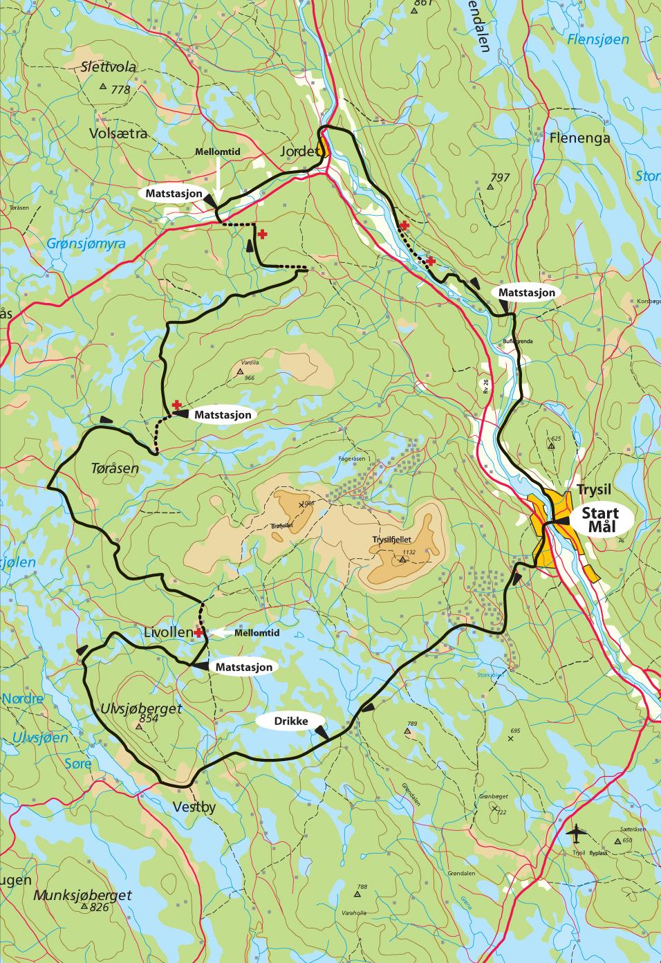 kart over trysil Løypa   Trysil kart over trysil